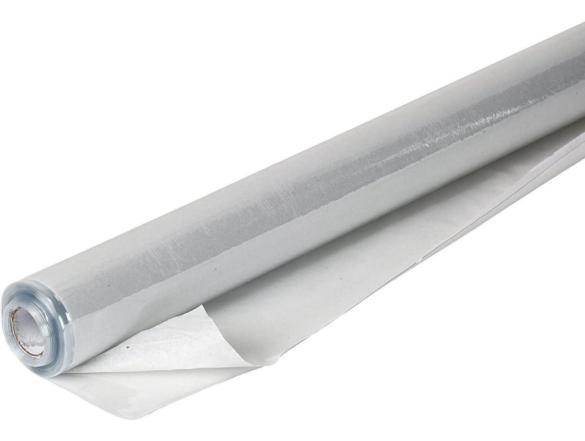 Filme PVC Plástico Transparente Impermeável 1,40x50 - 0,30MM
