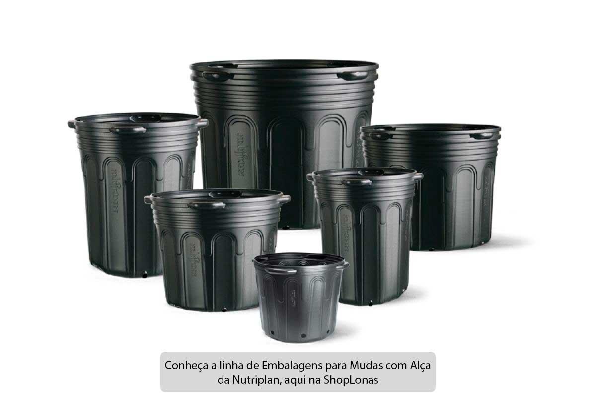 Kit com 10 Embalagem para Mudas 40L Vaso com Alça