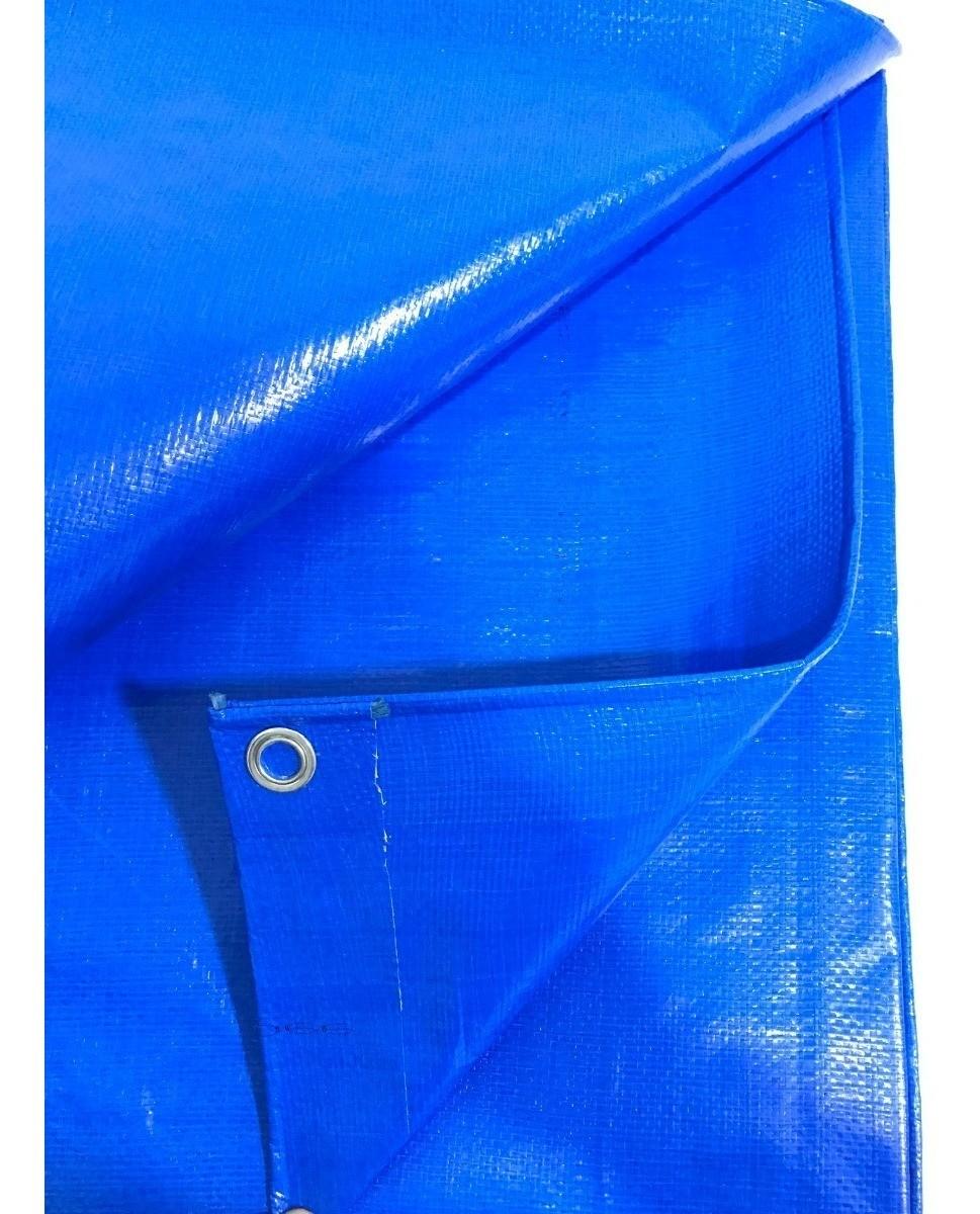 Lona Azul 300 Micras Cobertura Multiuso Telhado 8x2,5 Mts