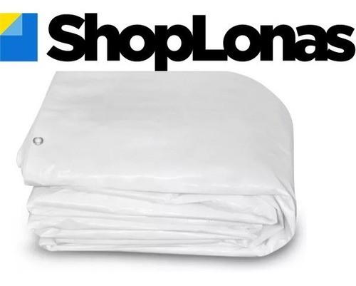 Lona Barraca de Feira SL300 Cobertura Tenda Branca 12,5x4