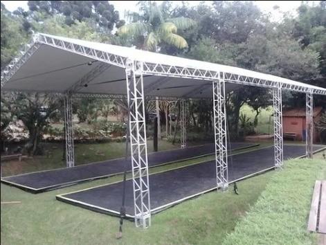 Lona Barraca de Feira SL300 Cobertura Tenda Branca 2x7
