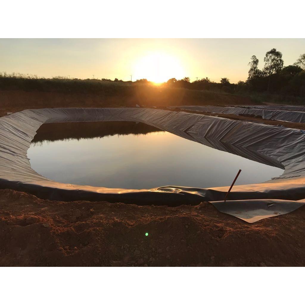 Lona Geomembrana 10x15 Lago Tanque Peixes Cisterna 550 Micra