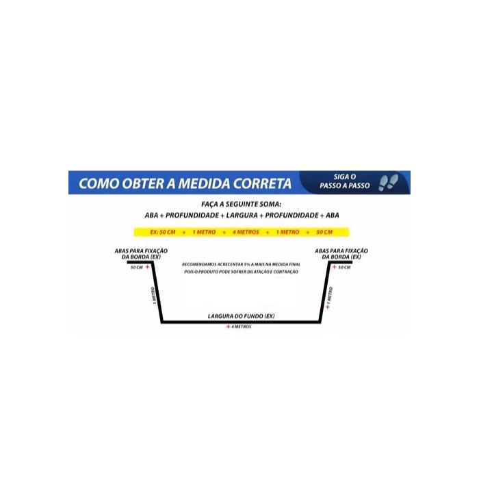 Lona Geomembrana 4,5x3 Lago Tanque Peixes Cisterna 300 Micra