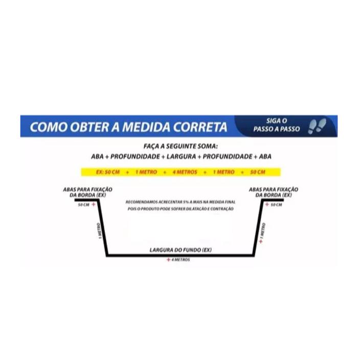 Lona Geomembrana 5,9X4 Lago Tanque Peixes Cisterna 550 Micra