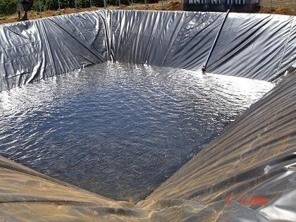 Lona Geomembrana para Lago Ornamental Tanque Piscicultura 500 Micras + Manta Bidim