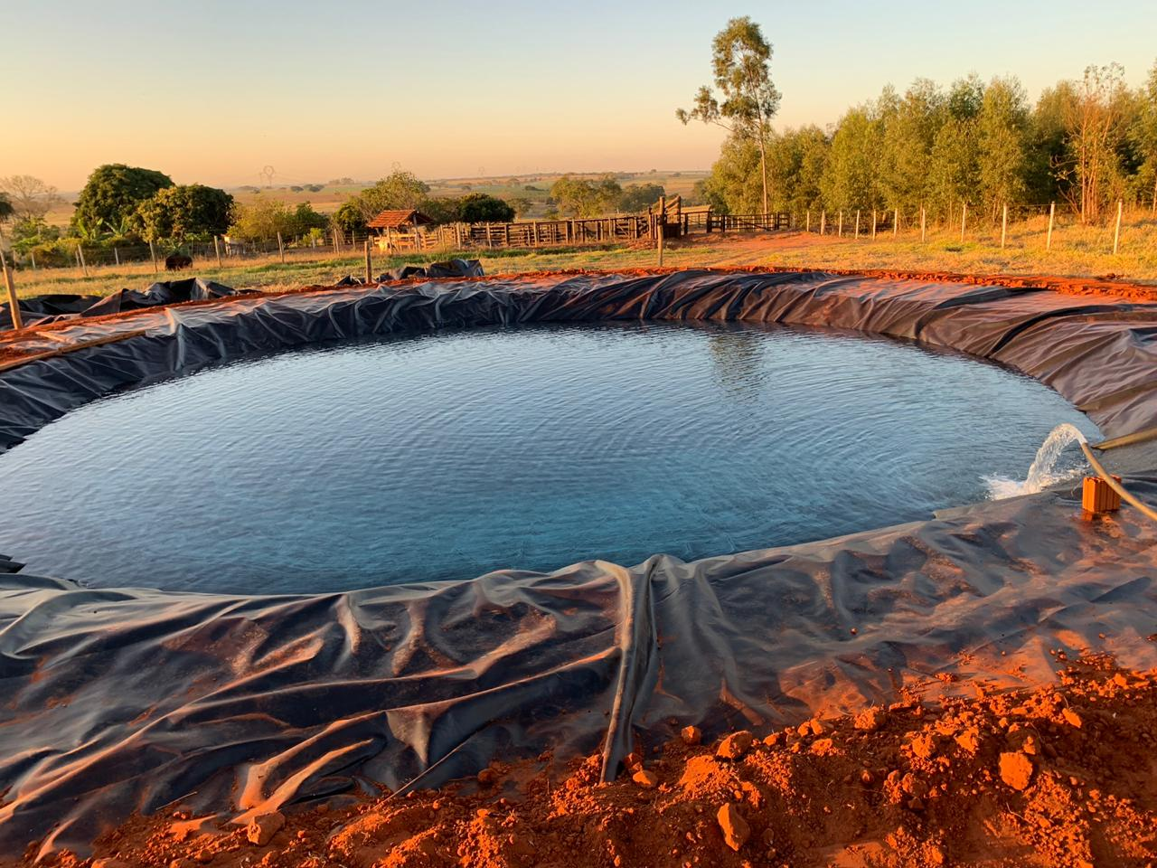 Lona Lago Tanque Criação Peixe Manta Impermeável Rede 5x3,5m