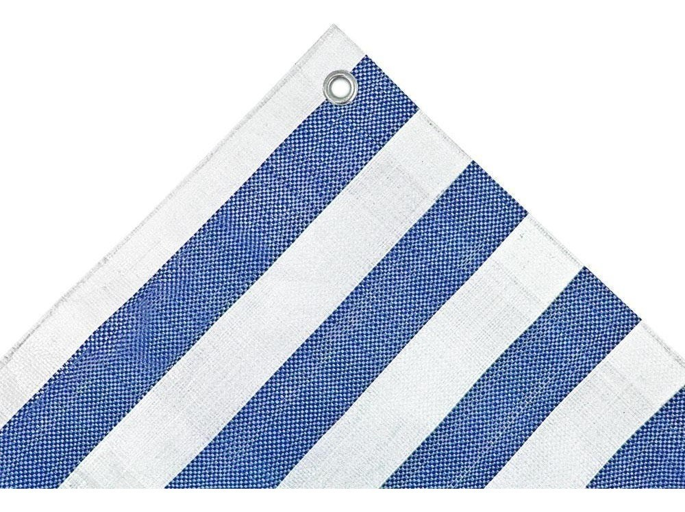 Lona Multiuso Listrada Barraca de Feira Azul/Branco 300 Micras