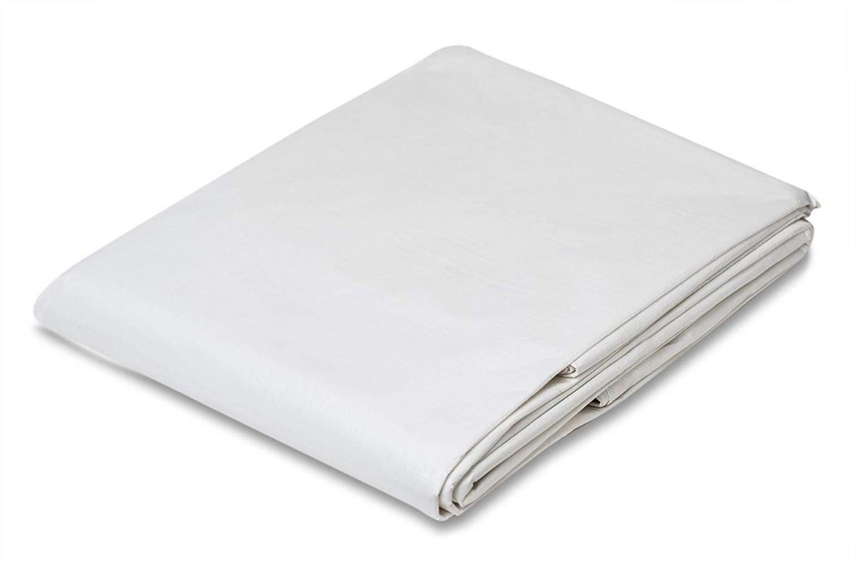 Lona Multiuso Plástica Impermeável Camping Branca 300 Micras