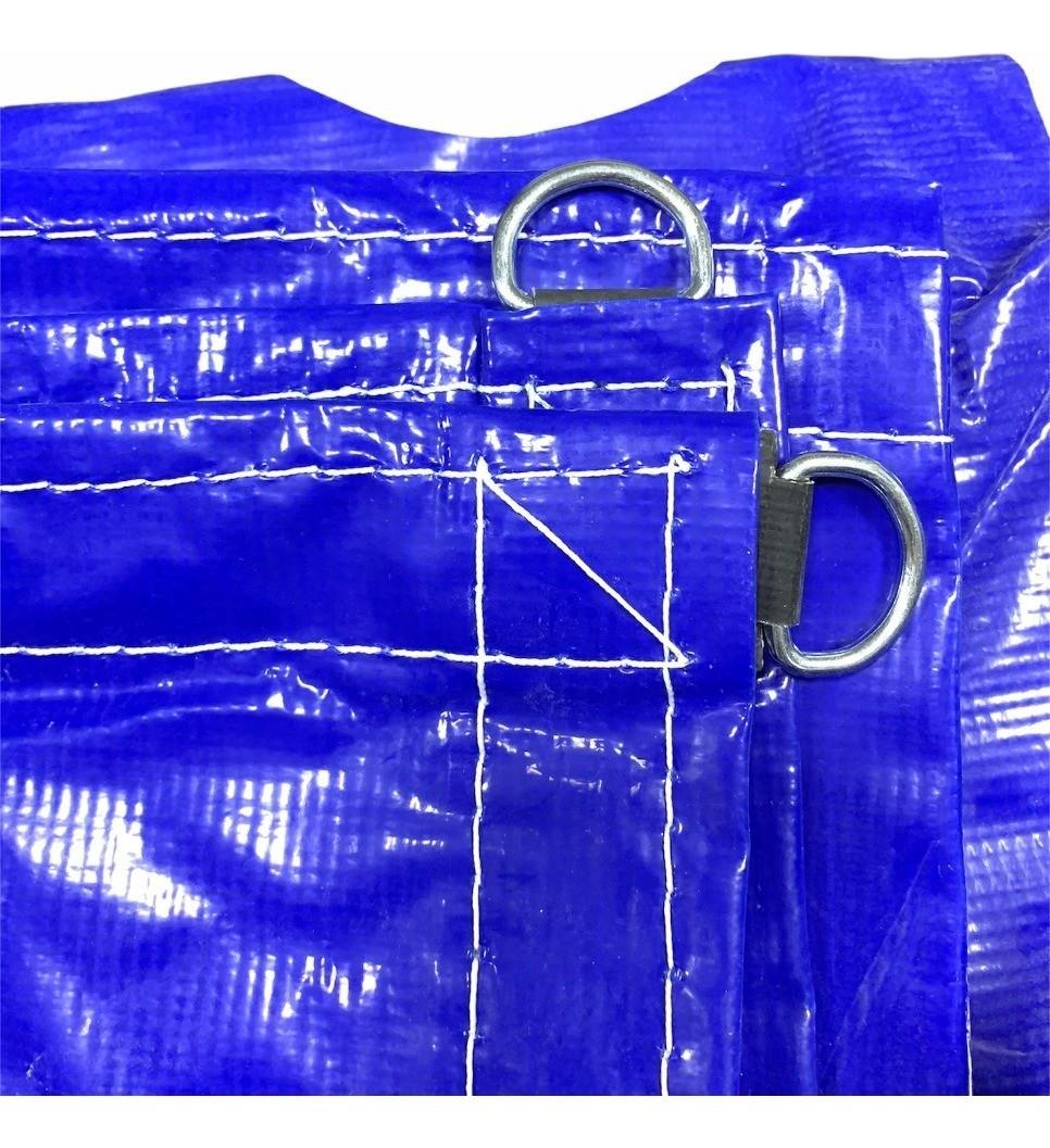 Lona para Caminhão Emborrachada Azul/Preto com Argola