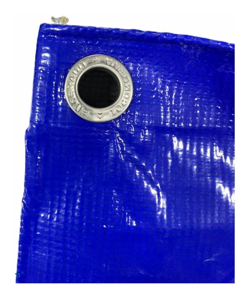 Lona Para Caminhão Locomotiva PVC Azul/Preto Com Ilhós 9,5x5m