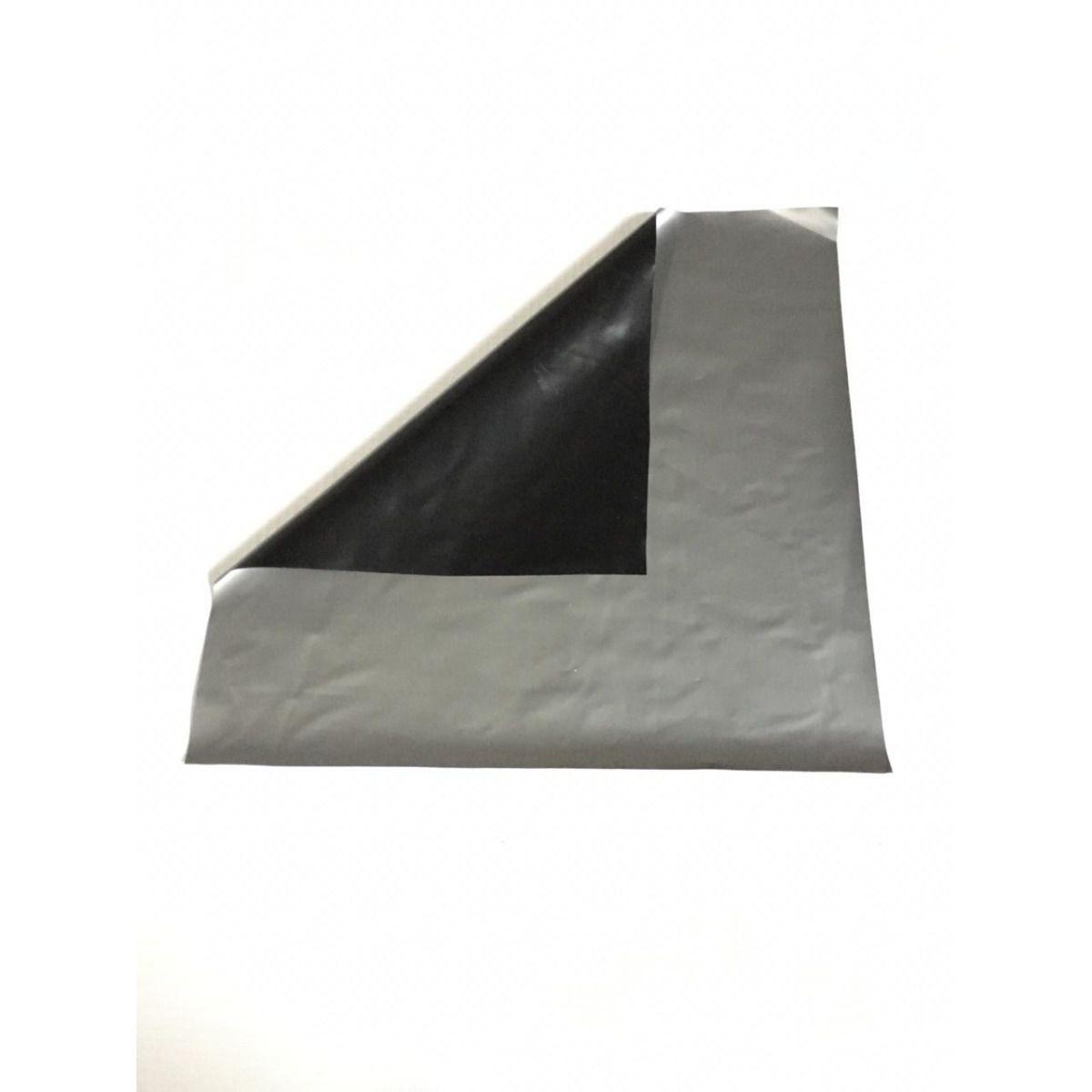 Lona Para Silagem Dupla Face Prata/Preta 25x12 Aprox 150 Mic