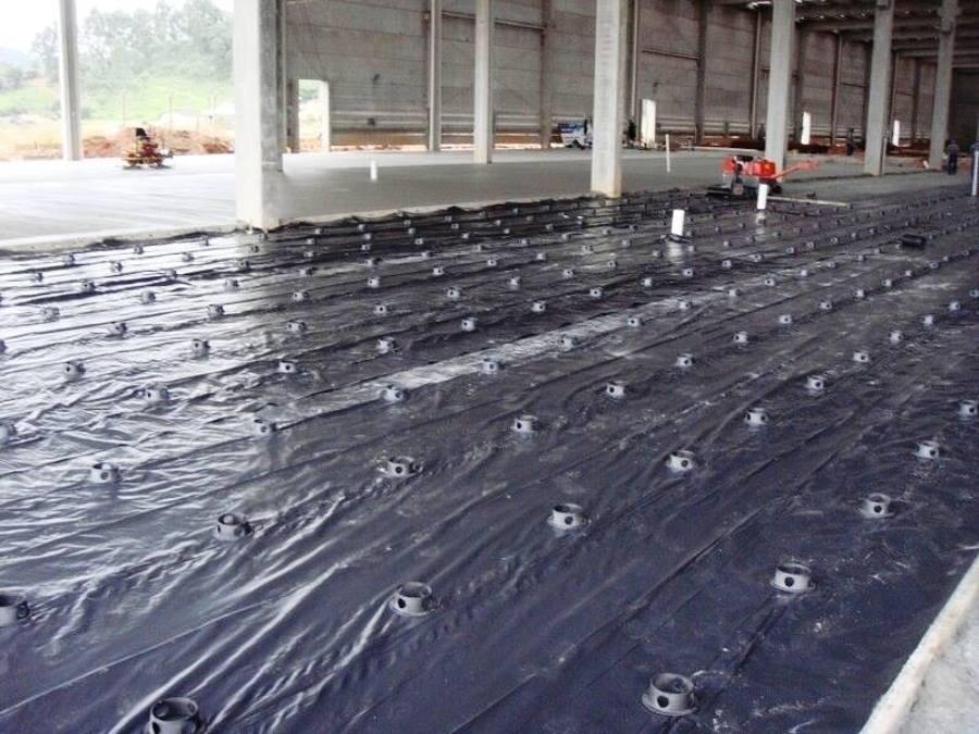 Lona Plástica Construções Obra Reforma Preta 4x50m 7kg