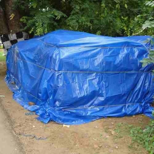 Lona Multiuso Impermeável Cargas Camping em Polietileno Azul 100 Micras