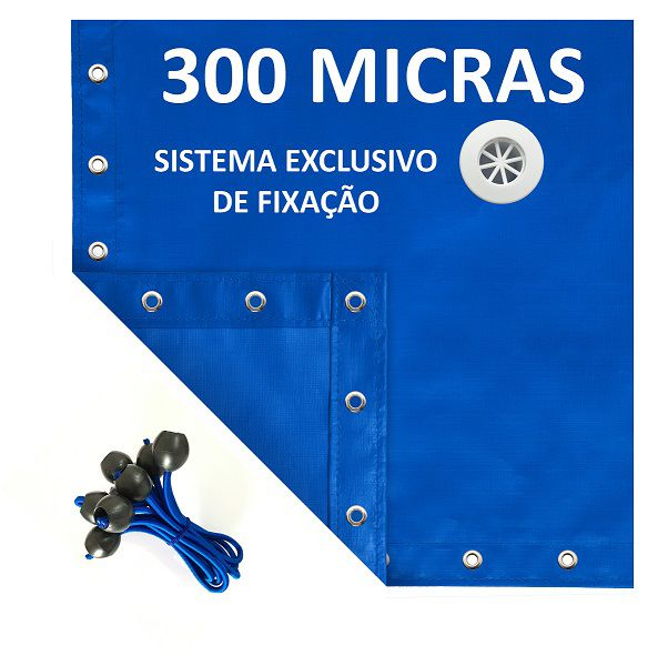 Lona Polietileno Azul 300 Micras - 4x4
