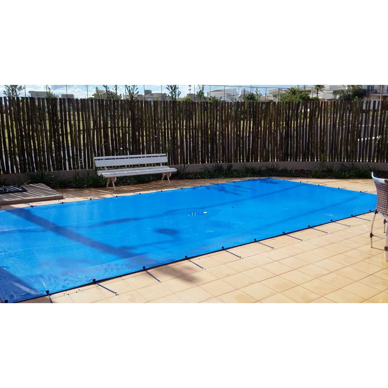 Lona Polietileno Azul 300 Micras - 7x3,5