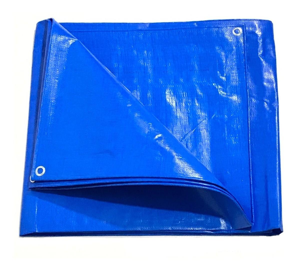 Lona Prática Multiuso Piscinas com Dreno Azul 300 Micras