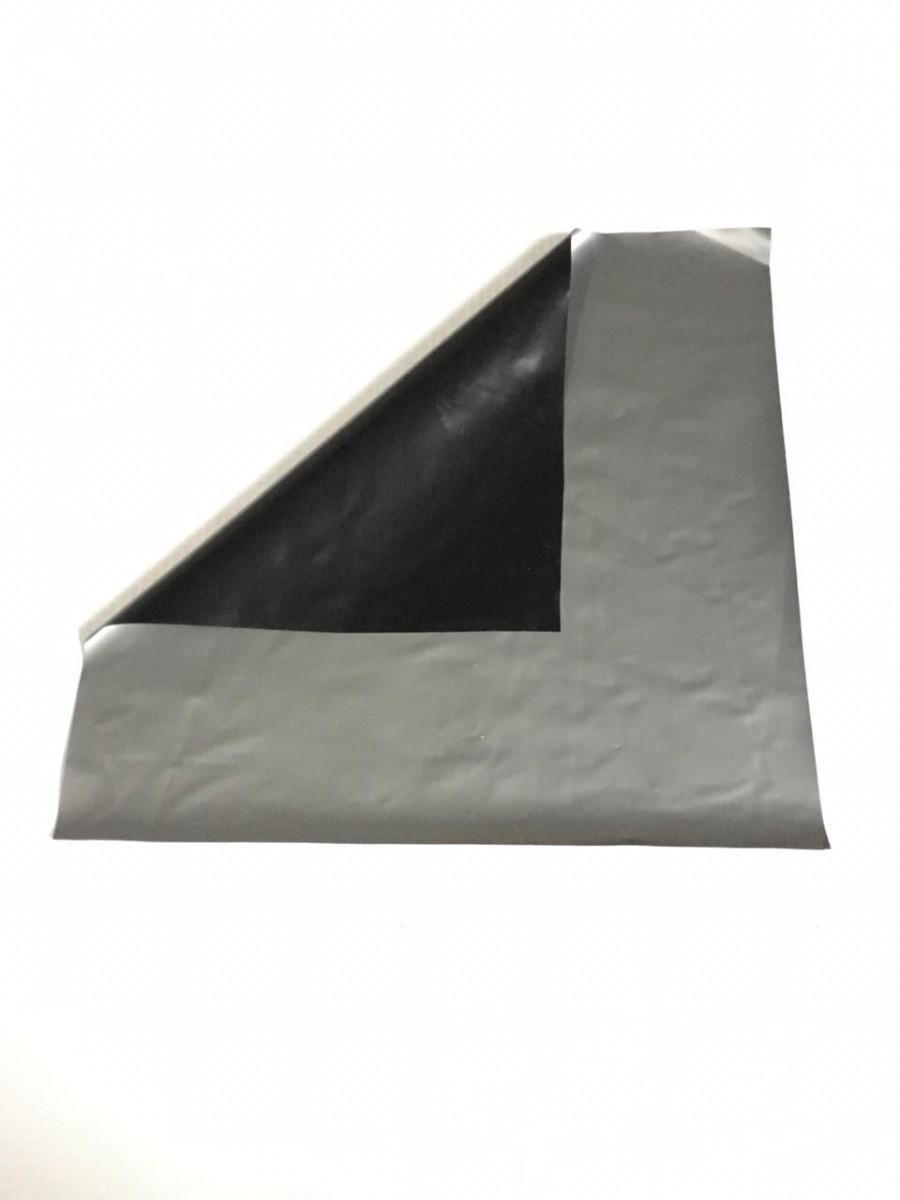 Lona Silagem Dupla Face Prata/Preto 10x50m - 65kg