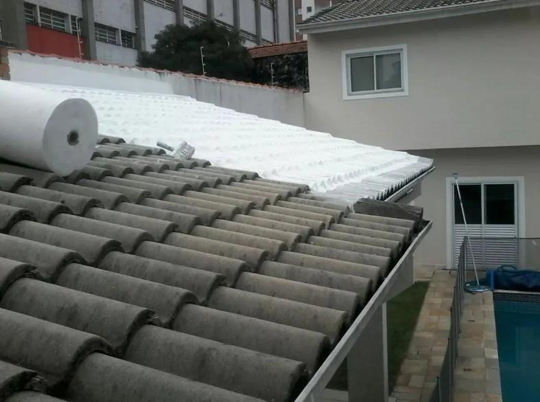 Manta Bidim Branca VP50 Impermeabilização Lajes Telhados