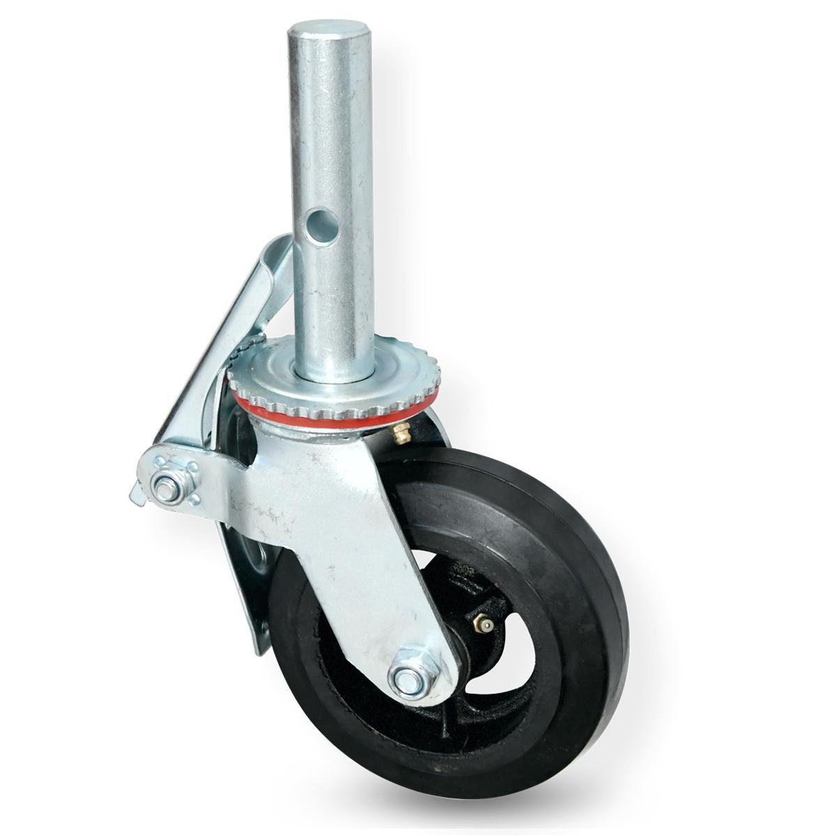 Roda Para Andaime Rodízio De Borracha E Ferro 330mm 200kg