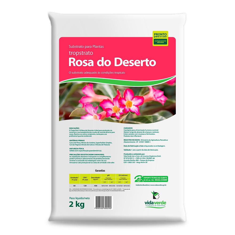 Substrato Rosa do Deserto com Casca de Pinus Vida Verde 2kg