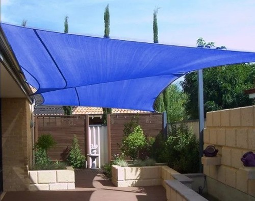 Tela Decorativa Azul Sem Acabamento - 4x6
