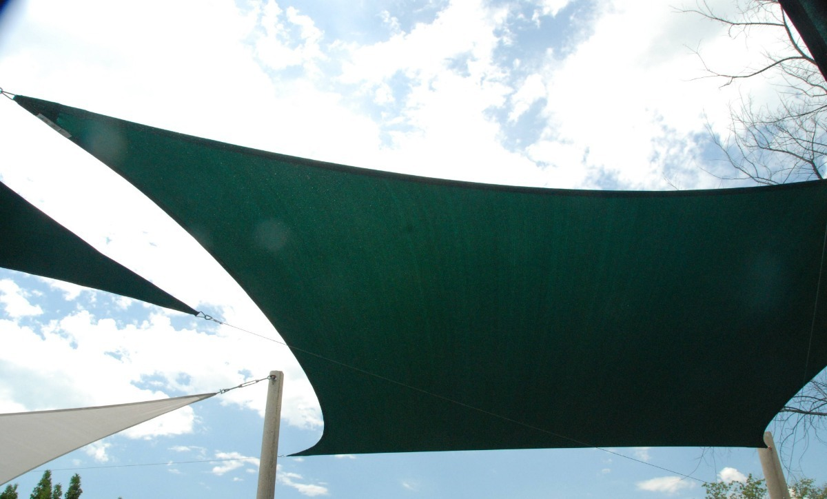 Tela Decorativa Sombrite Verde Sem Acabamento 4x10,5m