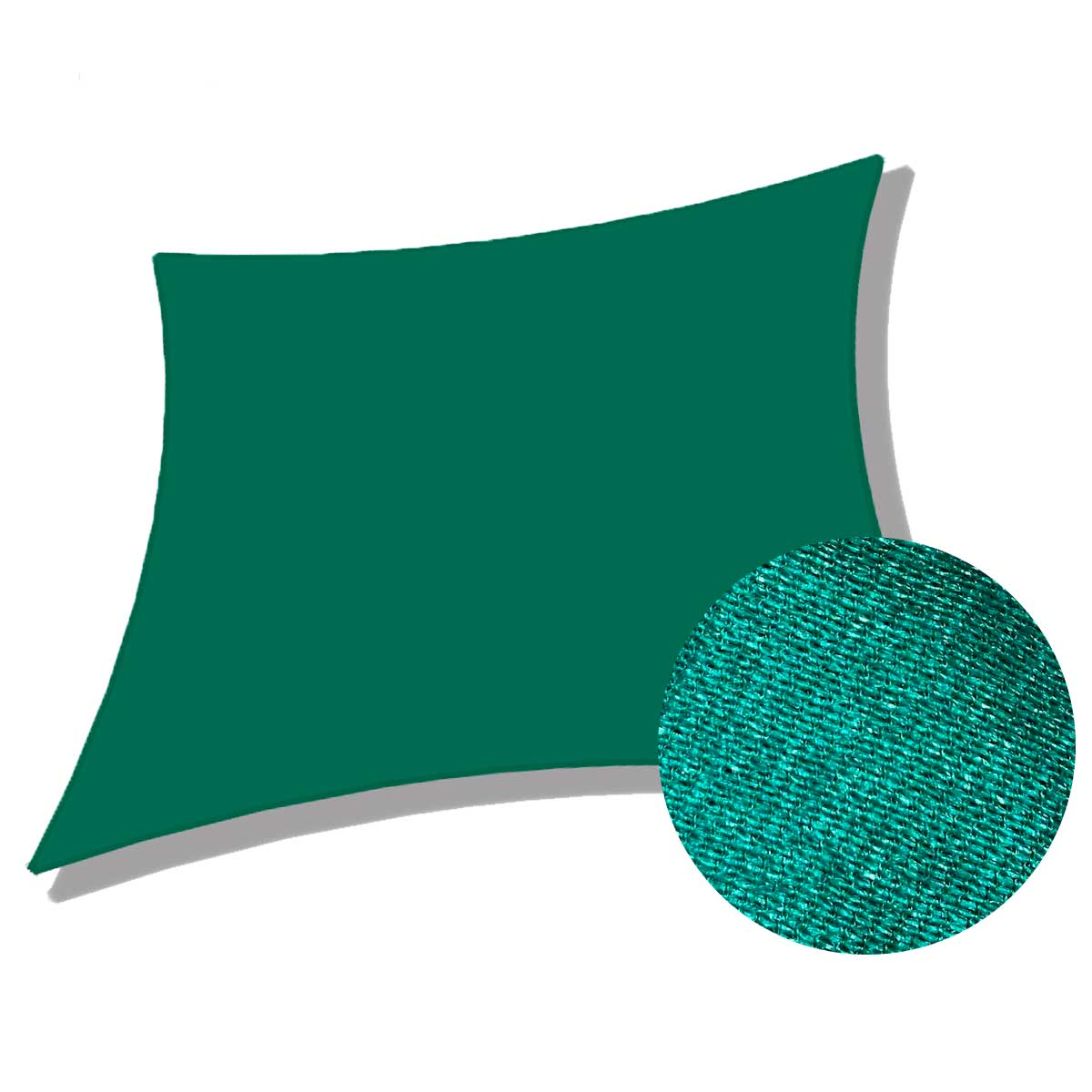 Tela Decorativa Sombrite Verde Sem Acabamento 4x8m