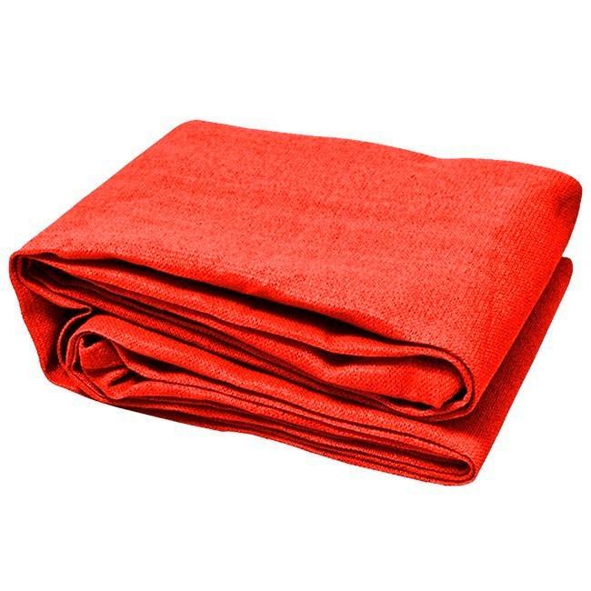 Tela Decorativa Vermelho com Bainha e Ilhós - 4x1,5