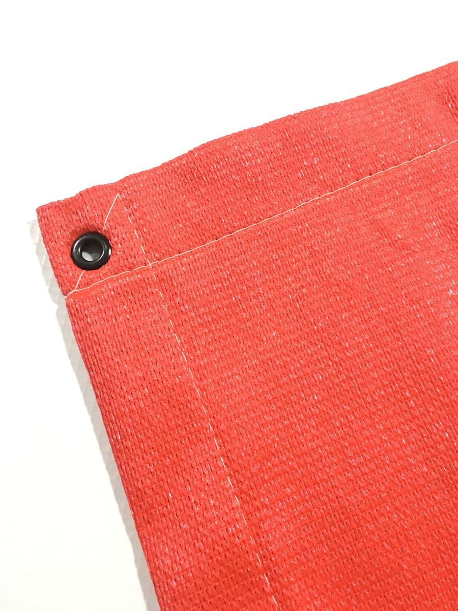 Tela Decorativa Vermelho com Bainha e Ilhós - 4x4,5
