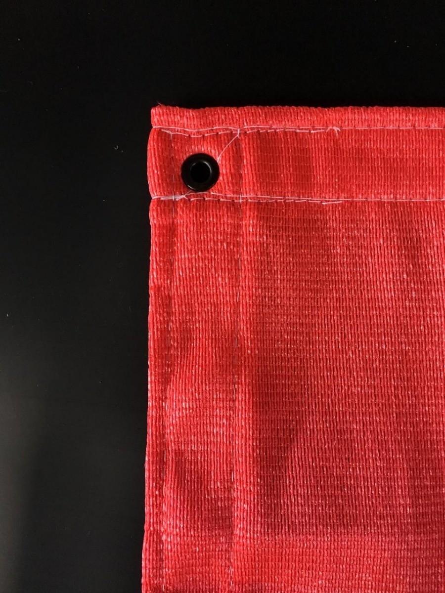 Tela Decorativa Vermelho com Bainha e Ilhós - 4x8,5