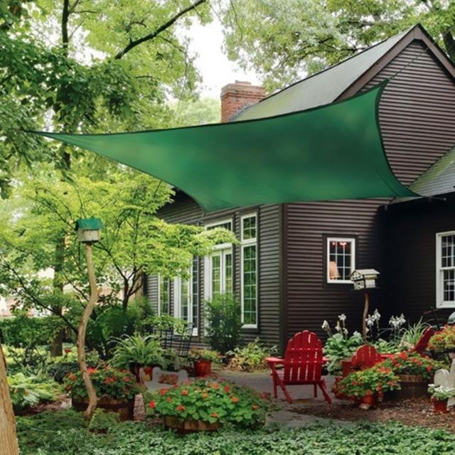 Tela Shade Sombrite Toldo Decorativa Verde Com Bainha e Ilhós 5x5,5m