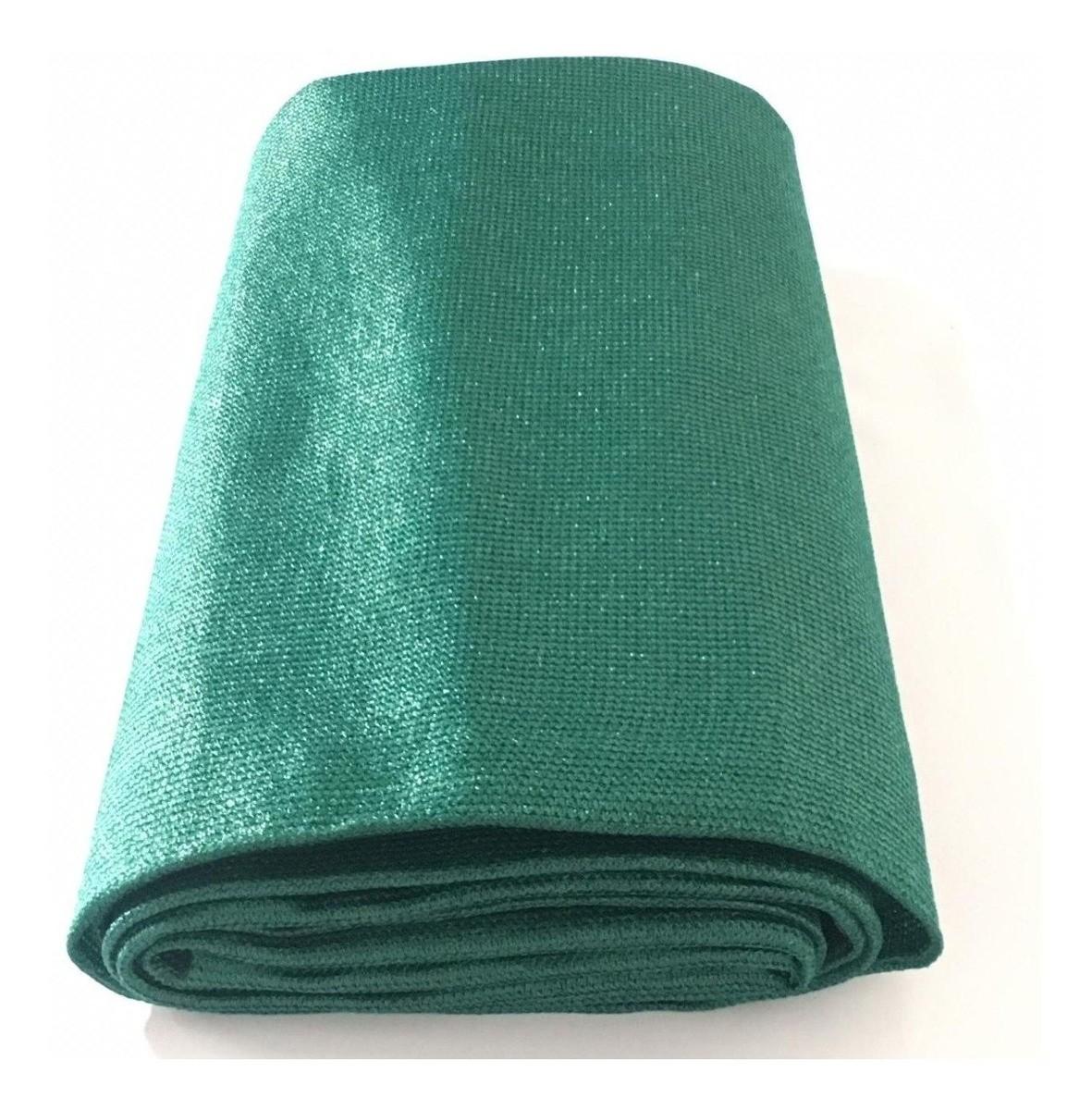 Tela Shade Sombrite Toldo Decorativa Verde Com Bainha e Ilhós 5x9m