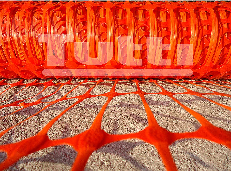 Tela Tapume Para Sinalização de Obras Laranja 1,20m x 50m
