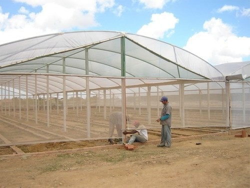 Tela Tecida Branca Fachada Agrícola Obras - 3x5m