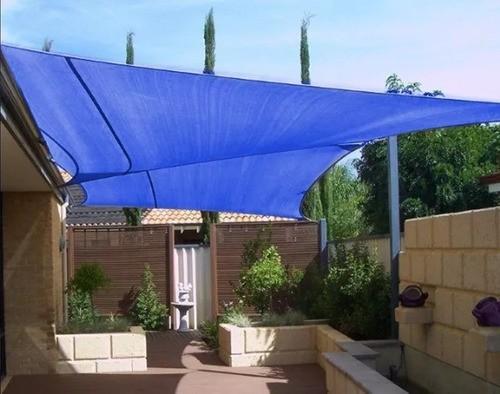 Tela Toldo de Sombreamento Shade Decorativa Azul