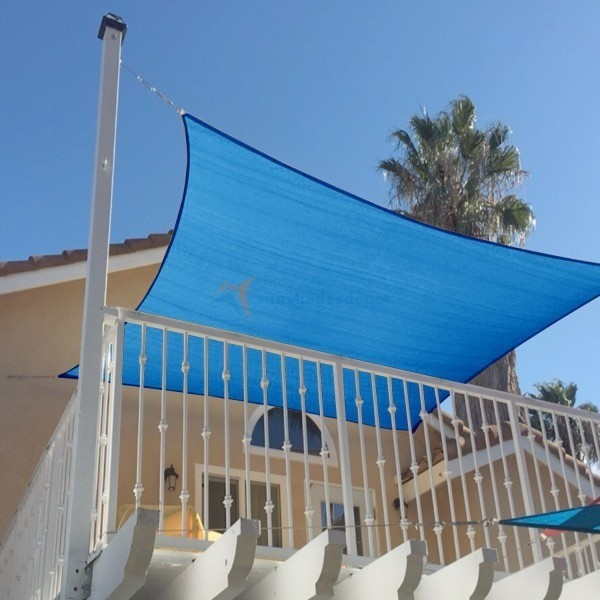 Tela Toldo de Sombreamento Shade Decorativa Azul - Sem Acabamento