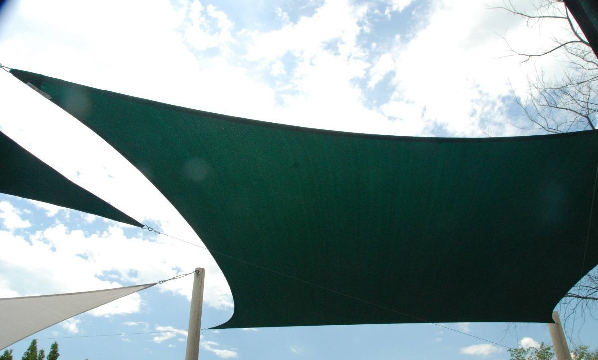 Tela Toldo Decorativa Shade Verde Sem Acabamento 5x9m