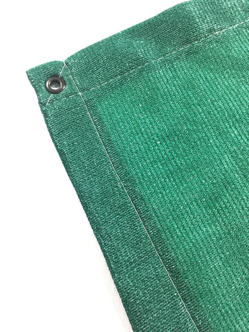 Tela Toldo Shade Decorativa Verde Com Bainha e Ilhós 4x5,5m