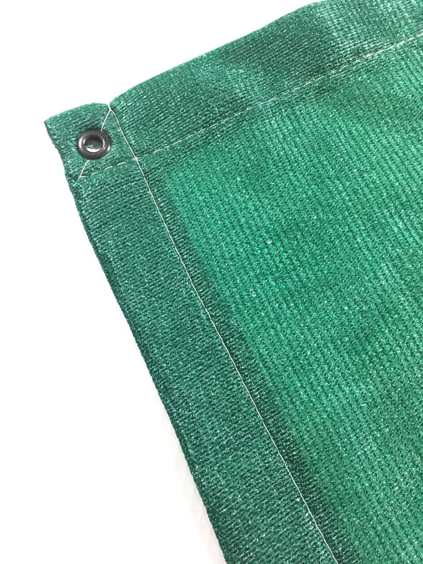 Tela Toldo Shade Decorativa Verde Com Bainha e Ilhós 4x7m