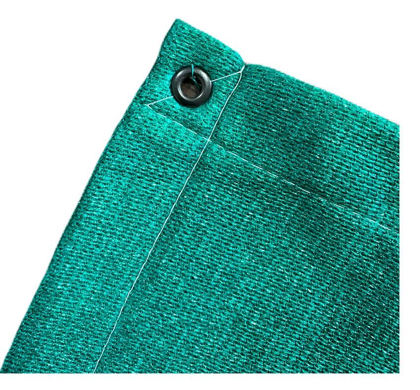 Tela Toldo Shade Decorativa Verde Com Bainha Ilhós 4x3,5m