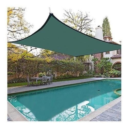 Tela Toldo Shade Decorativa Verde Com Bainha Ilhós 4x5m