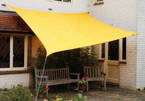 Tela Toldo Sombreamento Shade Amarelo Retangular 3x2m