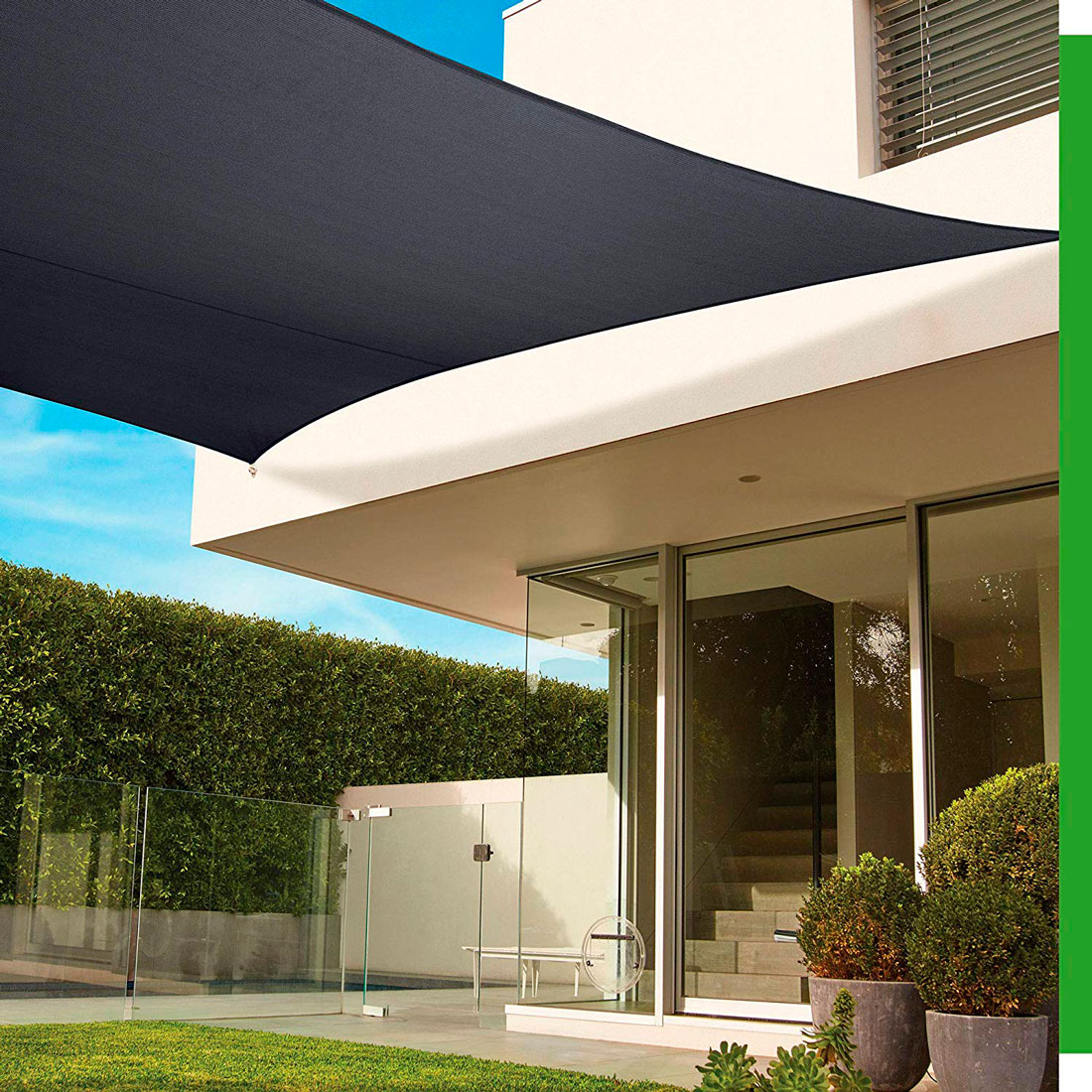 Tela Toldo Sombreamento Shade Prata Retangular 2x2m