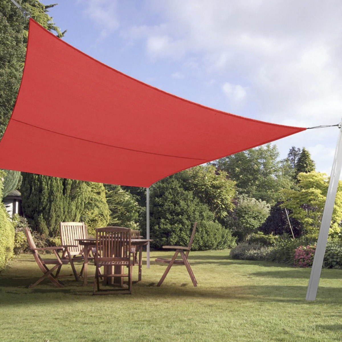 Tela Toldo Sombreamento Shade Vermelho Retangular 2x2m