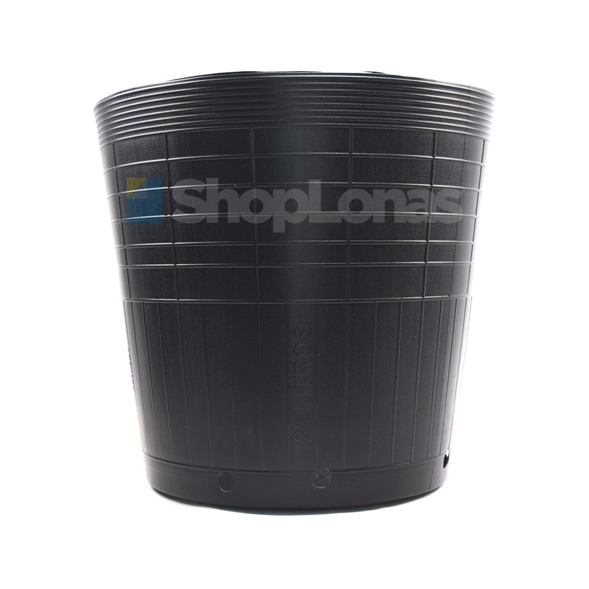 Vaso Preto Embalagem para Mudas Plantas 25L Nutriplan