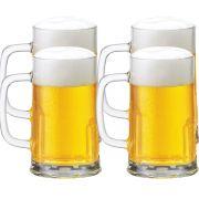 Caneca Chopp Cerveja Copo Cerveja Tudor M 300ml Jogo 4 Pcs