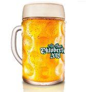 Caneca de Chopp de Vidro ou Cerveja Oficial Oktoberfest SP 2018 Ruvolo 1 Litro