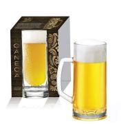 Caneca de Vidro para Cerveja Berna Canelada M de 300ml