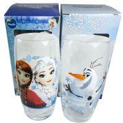 Conjunto de Copos Disney Frozen Anna Elsa Olaf de 430ml 2 Peças