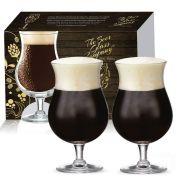 Conjunto de Taça de Cristal para Cerveja Double Bock de 600ml 02 pçs
